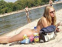 Nackt Frau Wald Frivol Ausgehen Nackedeis Strand Fkk Paar