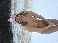 Scharfe Blondine privat nackt