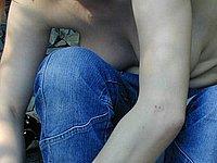 Nackt im Freien - Private Titten Bilder und Muschi Fotos