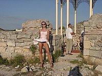 Nackt in der �ffentlichkeit - Geile private Urlaubsfotos