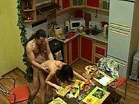Sex in der Küche - Heimlich gefilmt